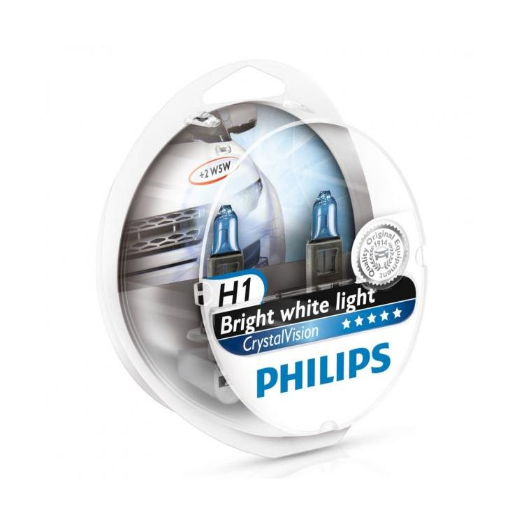 Λάμπες Philips Crystal Vision H1 4300K 55W Κωδικός 12258CVSM