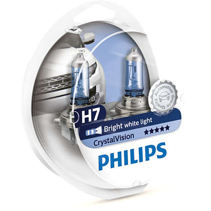 Λάμπες Philips Crystal Vision H7 4300K 55W Κωδικός 12972CVSM