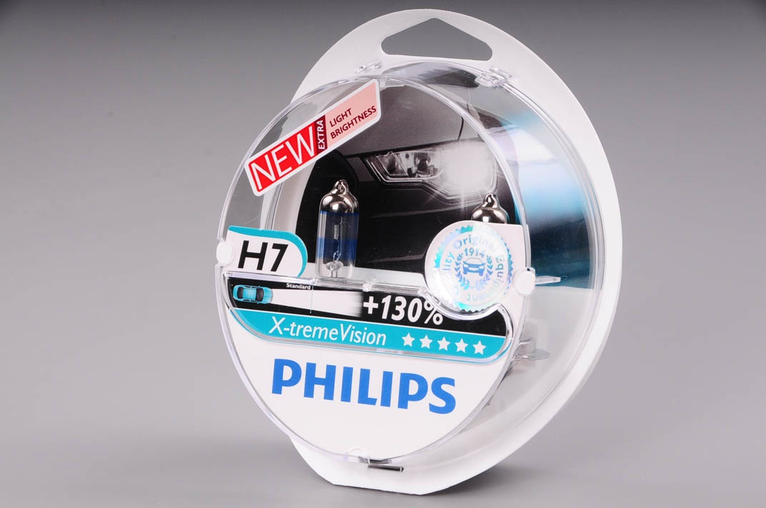 Λάμπες Philips X-treme Vision H7 +130% 55W Κωδικός 12972XVS2