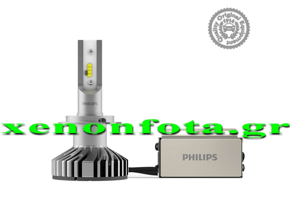 Philips X-treme Ultinon +200% H7 50W 12V 3520 Lumen ZES(Philips) LED Κωδικός 12985BWX2