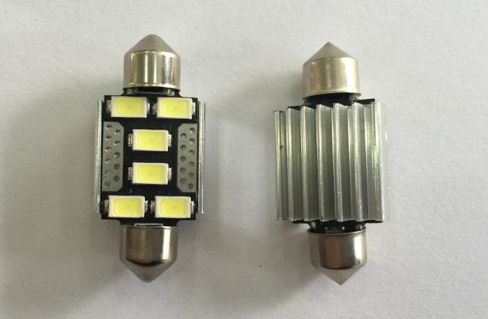 Led σωληνωτό 36mm Canbus 6 SMD Τιμή : 8 ευρώ