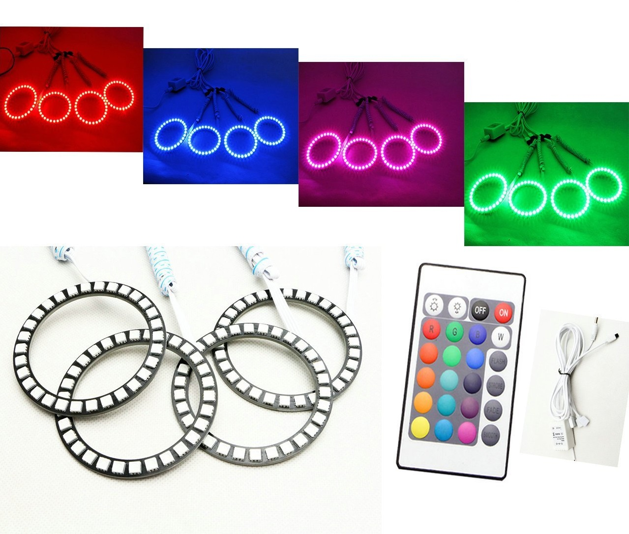 Set RGB Angel Eyes LED Κωδικός 57455