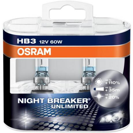 Λάμπες Τύπου Xenon HB3 9005 Osram Nightbreaker Unlimited +110%
