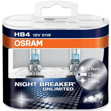 Λάμπες Τύπου Xenon HB4 9006 Osram Nightbreaker Unlimited +110%