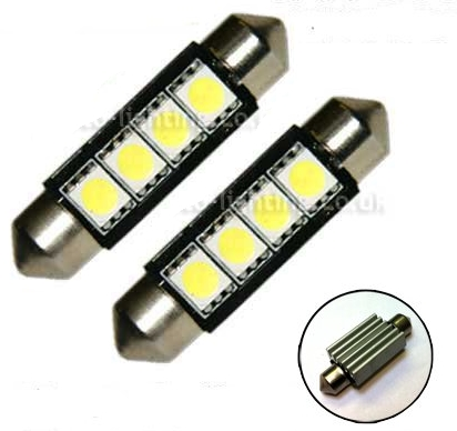 Led Canbus Σωληνωτο 4 SMD White 42mm