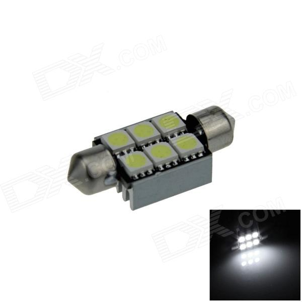 Led Canbus Σωληνωτό 6 SMD White 39mm