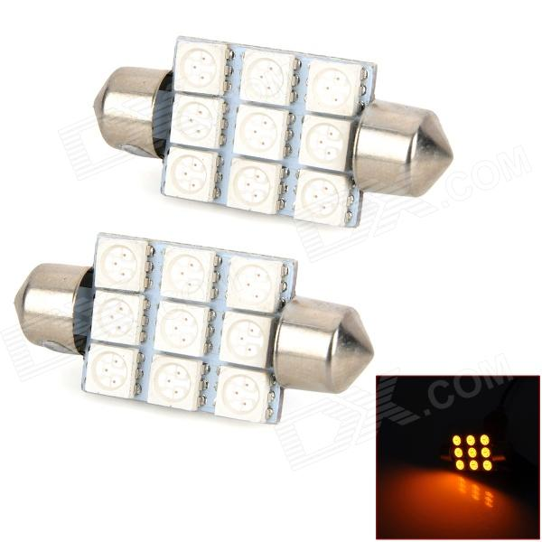 Σωληνωτό LED 9 SMD 39mm Yellow