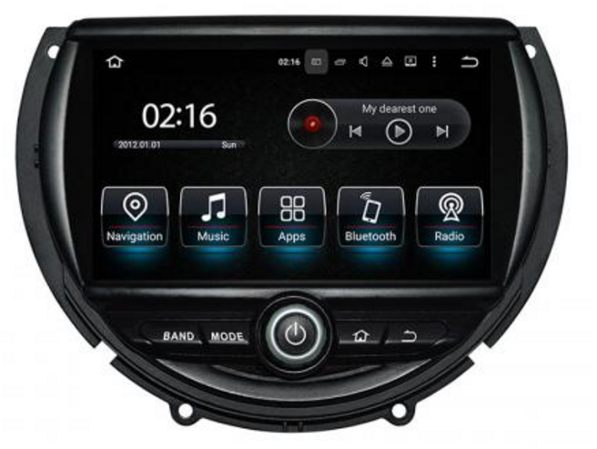 LM G845A GPS OEM ANDROID 7 MINI 2014> GPS/ MEDIA STAT