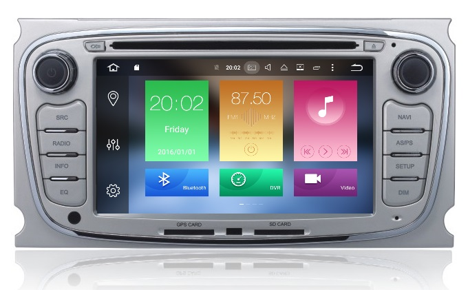 LM J003 GPS OEM FORD 2008> ANDROID8/8core/GPS/DVD/BT
