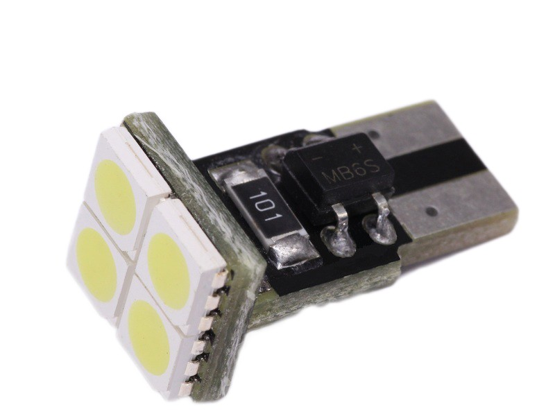 Led T10 Canbus 4 SMD Τιμή : 7 ευρω
