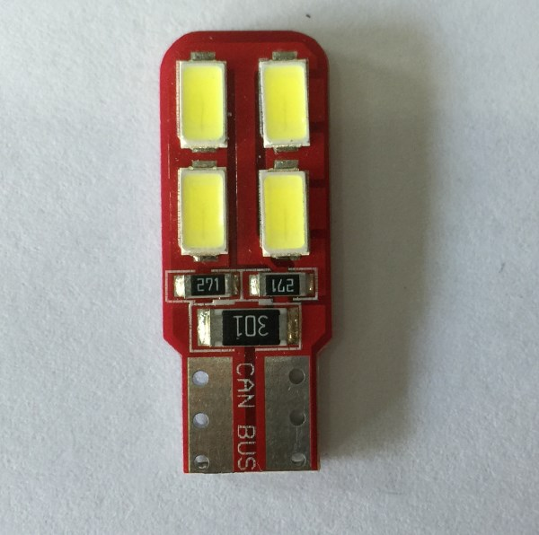 Led T10 Canbus 4+4 SMD Τιμή : 8 ευρώ